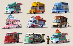 Sketchblog of Mingjue Helen Chen • Here are some bh6 sushi bus designs back when...