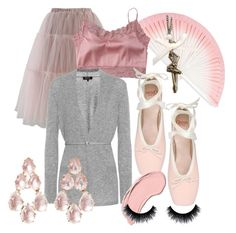 """""""Life Is Beautiful At The Ballet"""" by perfectscreenvixen ❤ liked on Polyvore featuring Opera National de Paris, Chicwish, FernFans, Satine, Loro Piana, Larkspur & Hawk, My Little Thing and NYX"""