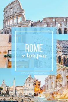 Rome en trois jours - Lucile in Wonderland - Reise Rome Travel, Italy Travel, Italy Trip, Italy Italy, Voyage Rome, City Break, Toscana, Venice Italy, Outdoor Travel