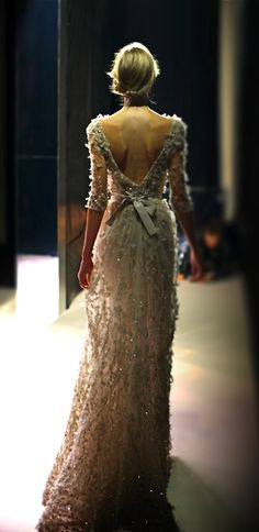 I now want to have a wedding do-over so I can wear this: Elie Saab, my god this is gorgeous