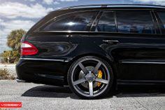 Mercedes AMG Wagon with Vossen wheels Chrome Wheels, Car Wheels, Supercars, Mercedes Benz E63 Amg, Mercedes E Class, Mercedes W211, Wagon Cars, Vossen Wheels, Custom Wheels