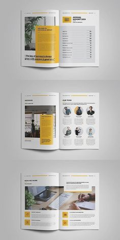 This annual report template is the best suitable choice to work with that provided an effective layout to publish a comprehensive report, include interesting Corporate Brochure Design, Brochure Layout, Brochure Template, Corporate Business, Indesign Templates, Business Brochure, Booklet Layout, Graphic Design Brochure, Brochure Cover