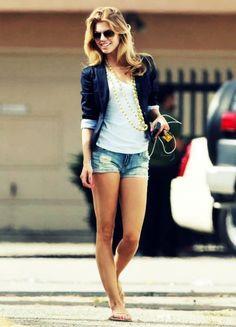 blazer with shorts