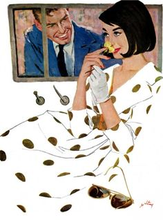 Coby Whitmore, vintage illustration