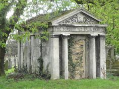 A mausoleum is an external free-standing building constructed as a monument enclosing the interment space or burial chamber of a deceased person or people. A monument without the interment is a cenotaph. Gardens Of Stone, The Fiery Cross, Old Cemeteries, Cemetery Art, Catacombs, Classical Art, Small World, Abandoned Places, Architecture