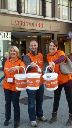 Collecting for National Arthritis Week 2014 in Liverpool.