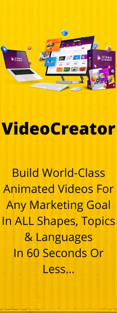 VideoCreator - The Most Powerful Video Animation Suite Is finally here… No other video app in the market comes with the latest technologies like Motion Tracking, Logo Mapping, Scroll Stoppers, Neon Videos, 3D visuals and live action videos specific to local businesses featuring real humans from various professions. Marketing Goals, Latest Technology, Live Action, Videography, Affiliate Marketing, Make Money Online, Videos