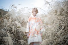 Akino is a Japan­ese fash­ion and tex­tile designer and MA graduate from Aalto University in Helsinki. This image is from the Whiter Melancholy collection. Melancholy, Fashion Art, The Outsiders, Kimono Top, Ruffle Blouse, Style Inspiration, Winter, Pretty, Instagram Posts