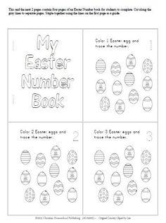 PreK - Kindergarten:  Easter Numbers Book inside of an Easter Numbers Unit (1-10)!