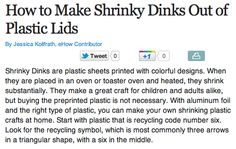 How to make shrinky dinks out of plastic lids