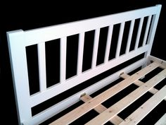6ft Rochester White Pine Bed Frame - £399.95 - The slow grown Scandinavian pine used to craft this frame is kiln dried to reduce any warping of the timber during the manufacturing process. Hand finished in a semi gloss white finish.  Twin solid pine centre support rails and solid scandanavian pine slats. So solid that no centre support legs are needed beneath, a true sign of quality workmanship so buy with confidence. Pine Bed Frame, Bed Frames, Superking Bed, Bed Mattress, Ottoman Storage Bed, Bed Storage, Pine Beds, White Bedding, Solid Pine