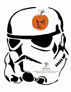 Stormtrooper Pumpkin Pattern
