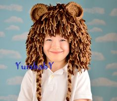 Easy no sew kids lion halloween costume pinterest halloween lion wig halloween costume lion hats costumes for kids by yumbaby solutioingenieria Image collections