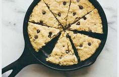 gluten free oatmeal chocolate chip skillet cookie