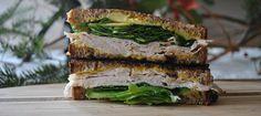 "Sandwich #55--""Tacky Office Glasses"" Turkey, Basil and Cheddar Melt"