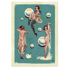 Bubble butt girl holding the water Bill Ward, Vintage Comics, Vintage Art, Vintage Space, Vintage Cartoon, Pin Up Drawings, Art Jokes, Retro Illustration, Pulp Art