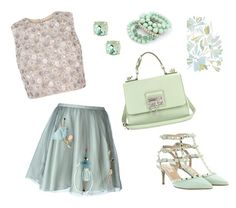 """Untitled #164"" by maurogianni-za ❤ liked on Polyvore featuring RED Valentino, Valentino, Candela, Dolce&Gabbana and Ruby Rocks"