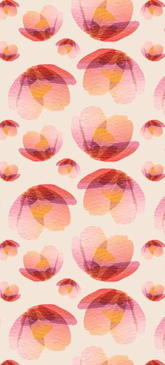 sandee hjorth floating blooms flowers pink orange
