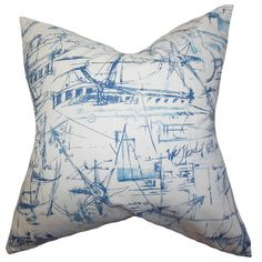 The Pillow Collection Hobson Coastal Throw Pillow