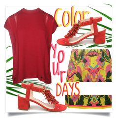 """""""color your days"""" by tuaptstore on Polyvore featuring Color, summerstyle and fashionset"""