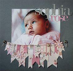 Sophia Rose...baby layout