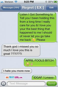 Funny april fool's text message very funny texts, epic texts, text jokes, awkward Very Funny Texts, Funny Texts Crush, Epic Texts, Text Jokes, Funny Text Fails, Funny Text Messages, April Fools Texts, Lol Text, Best Funny Images