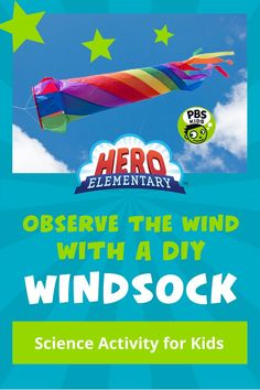 """Help your child observe or """"see"""" wind with a windsock made from materials found in the recycling bin. As you craft your windsock, discuss wind and weather patterns. Ask your child how they know it's windy. What happens outside when it's windy? What do you see? Trees sway in the wind and leaves that have fallen swirl or rustle. What do you hear? Science Games For Kids, What Do You Hear, Pbs Kids, Crafts For Kids, Recycling, Diy, Trees, Weather, Leaves"""