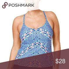 Island Escape Womens Plus Size Tankini Top Size 14 PRODUCT FEATURES Island Escape Swim Bikinis