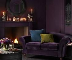 48 Cute Purple Living Room Design You Will Totally Love. The Living Room style and colour choices are inevitably dictated by size, use and environment and this particularly relevant when hot colours i. Living Room Decor Purple, Purple Rooms, Living Room Green, Green Rooms, Living Room Colors, Living Room Sofa, Living Room Designs, Burgundy Room, Burgundy Living Room