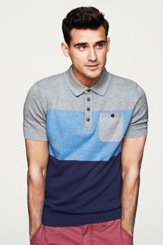 The term Polo shirt was originally used to describe the long sleeved, thick button down shirts used to play Polo. In the a tennis shirt embroidered with a polo player on it was the first of … Polo Shirt Style, Polo Shirt Outfits, Sports Polo Shirts, Tennis Shirts, Camisa Polo, Le Polo, Men Style Tips, Menswear, Mens Fashion