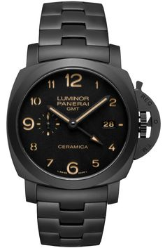 TUTTONERO - Luminor 1950 3 Days GMT Automatic Ceramica - 44mm PAM00438 - Collection Luminor 1950 - Officine Panerai Watches