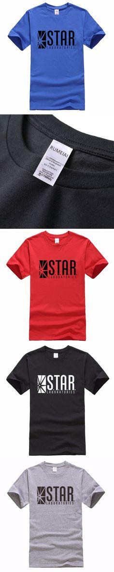 Summer Fashion STAR S.T.A.R.labs Design t-shirts Men's cotton short sleeve tshirt homme hip hop fitness tshirt clothing tops tee
