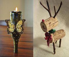 wine bottle crafts | Wine bottle ideas