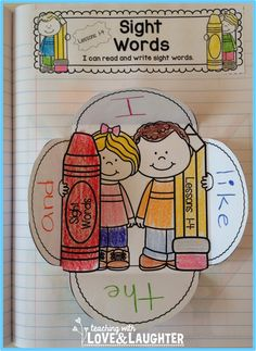 Kindergarten Sight Words Interactive Notebooks