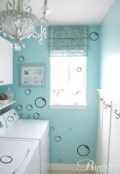 Soap bubbles bath DECALS (105) Wall Art Vinyl Decal sticker home decor laundry #SMArtDesign