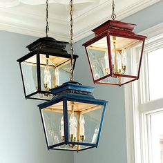Piedmont 4-Light Lantern - in blue, for over the kitchen table