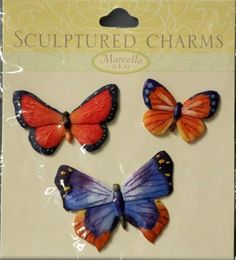 K & Company Marcella K Butterfly Sculptured Charms Stickers are available at Scrapbookfare.
