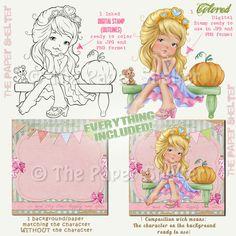 Adorável Cinderela - Digital Stamp