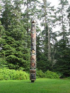 Tlingit totem in Alaska