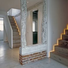 The hallway and stairs at ​the Old Hall in Suffolk (do Nash Baker Architects Ltd)