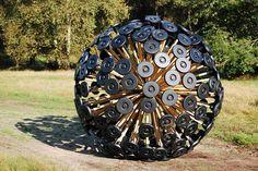 Mine Kafon: Wind-Propelled Bamboo Sphere Designed to Clear Landmines
