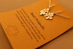 Best Friends Necklace: Silver Tone Best by CraftsbyBrittany