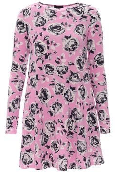 Pastel pink floral swing dress. Tongues Will Wag Fashion - Fabulous, affordable fashion for women. Online-Mobile-Tablet.