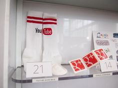 YouTube socks from the official Google store