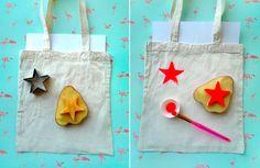 Connaissez-vous la technique de la pomme de terre ? Et bien on s'en sert pour créer des tampons… Un emporte-pièce de votre choix et le tour est joué !  Il vous ...