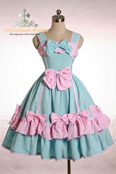 Cute Lolita Tiered Back Scallop Dress/JSK