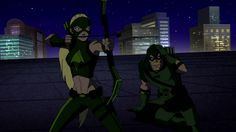 "Season 1 Episode 23 Insecurity: Artemis & her mentor, Green Arrow: GA: ""Good girl. Taking the lead on this one."""
