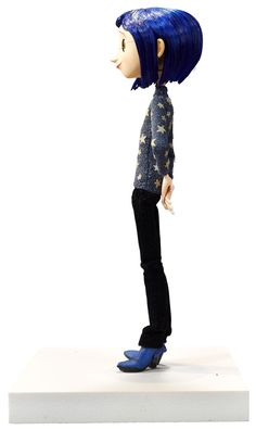 Coraline Blue Star Sweater Original Animation Puppet (LAIKA, This is the puppet of Coraline in her Blue - Available at 2015 February 12 The Art of. Laika Studios, Coraline Jones, Evolution T Shirt, Cosplay, Queen, Art Challenge, Custom Dolls, Stop Motion, Shades Of Blue
