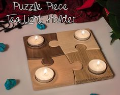 Picture of Puzzle Tea Light Holder
