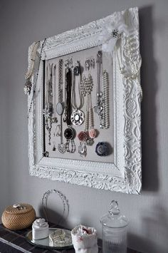 framed-again. Different ways to hang and make your jewelry part of you decor.